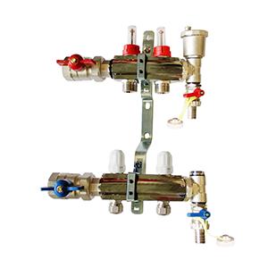 Underfloor heating 2 port manifold