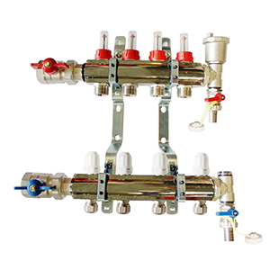 Underfloor heating 4 port manifold