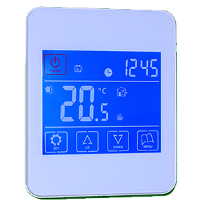 Underfloor heating touchscreen thermostat