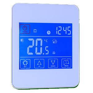 Underfloor heating touchscreen thermostat
