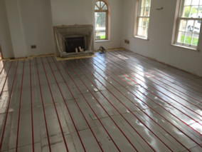The Screed Works As A Thermal Mass To Hold Heat Generated By Underfloor Heating Pipework Some Of Our Retrofit Systems Also Use For